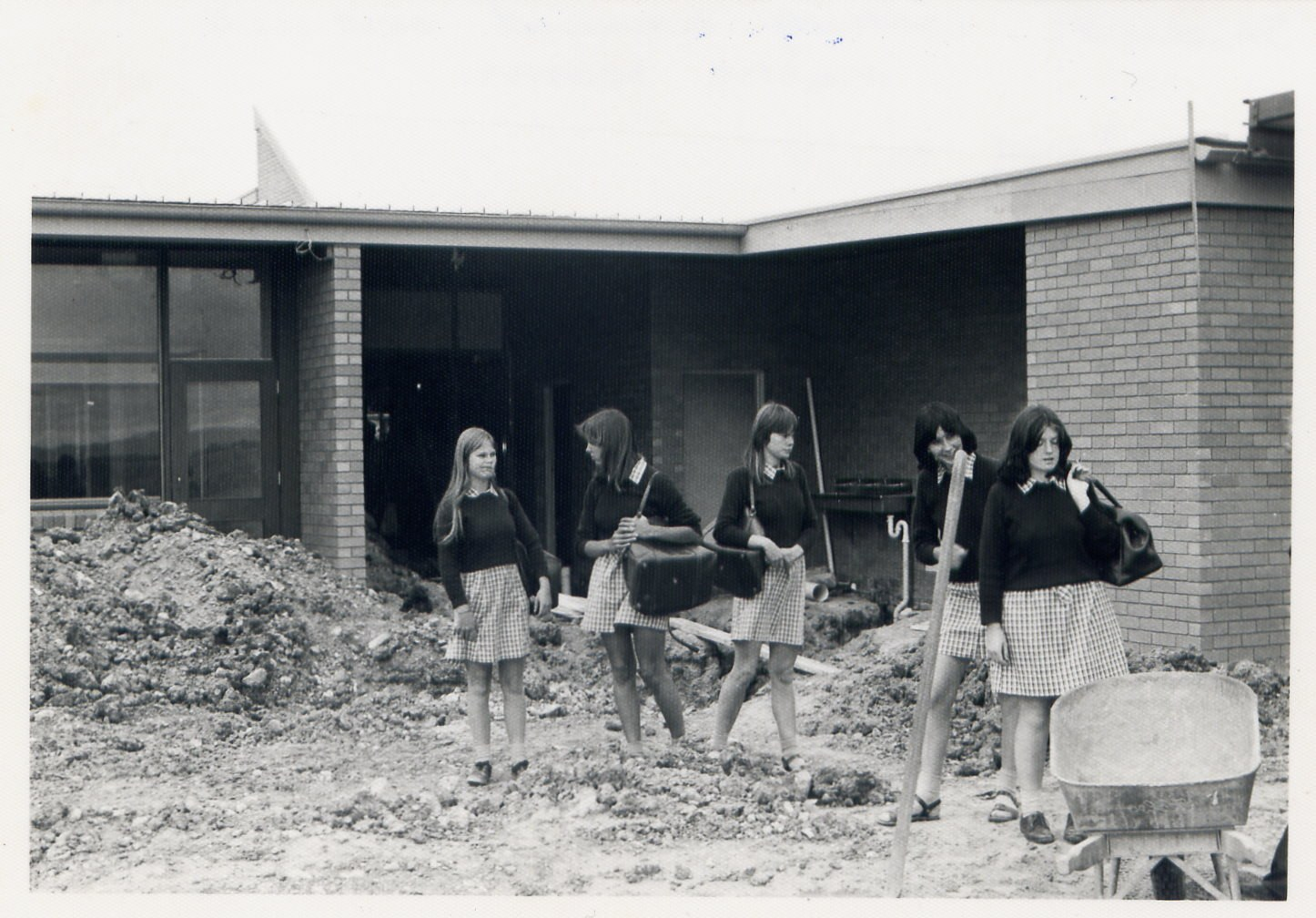 P38 1978 Students outside Maths rooms